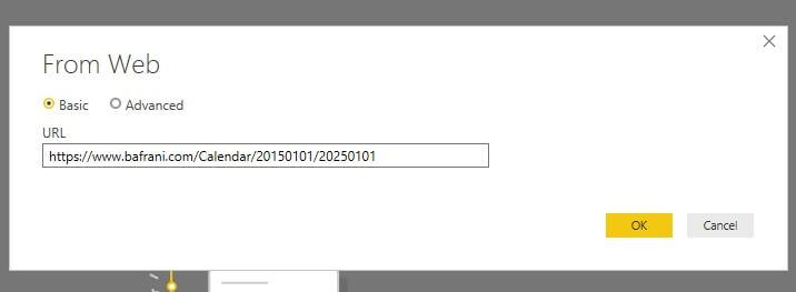 تنظیمات وارد کردن اطلاعات از سایت